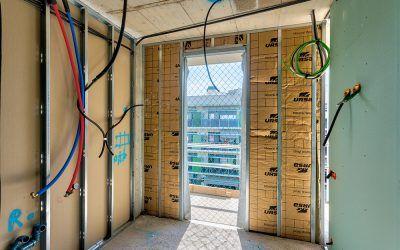 1.800 m2 de aislamiento URSA en una fachada ligera y ventilada de Sant Feliu de Llobregat