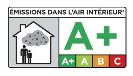 Sello A+ de calidad del Aire Interior
