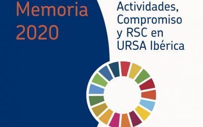 La solidaridad tiñe la Memoria RSC de URSA en 2020