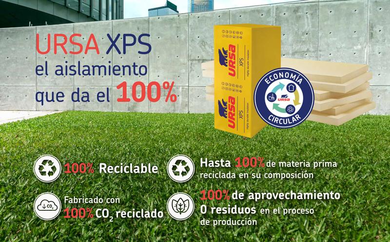 URSA fabrica su XPS con hasta un 100% de material reciclado